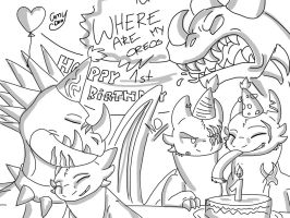 The Journey 1st birthday by Camy-Orca