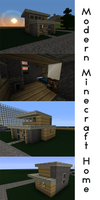 Modern Minecraft Home by EchozDisciple