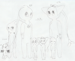 PiK's Pikmin Family by TwistedHensley