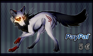 OPEN - 5 EURO Paypal Wolf Adopt 23 by YumiAdopts