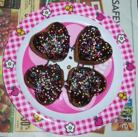 Heart-Shaped Chai Cupcakes by cuteordeath