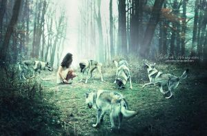 Dances with wolves by Julie-de-Waroquier
