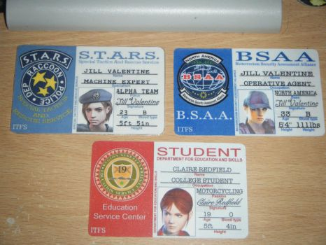 Resident Evil ID Cards by Leonie-Heartilly
