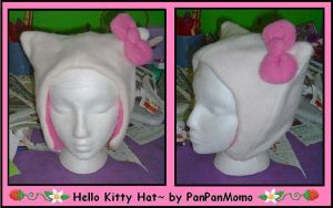 -Hello Kitty Hat- by PanPanMomo
