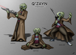 Commission 2 - Star Wars Character Q'Zayn by Tommassey250