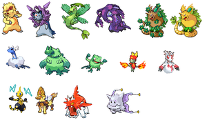 pokemon fusion sprites by plyt