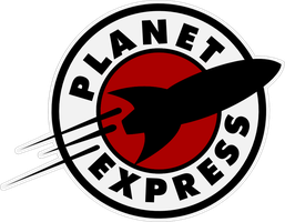 Planet Express Logo Sticker 2 by Pencilshade