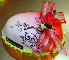 Pink easter egg cake by buttercreamfantasies