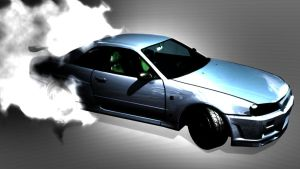 Nissan Skyline R34 photoshoped by Hiddenus