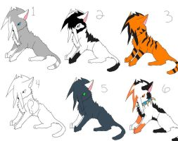 FREE CAT ADOPTS by BlackWerewolf14
