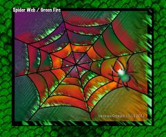 Spider Web / Green Fire by veronica1999