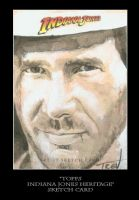 Sketch Card-Indiana Jones 47 by TrevorGrove