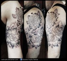 flowers sleeve, 1sth session by redtrujillo