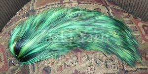 Neon and Black Blended Yarn Tail by serenitymoonwolf