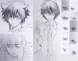 DOODLE COLLAGE 1: Pencil Training by TheAwesomeAki-kun