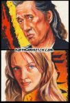 Kill Bill sketch cards by choffman36