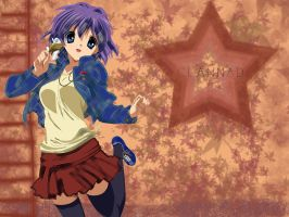 Clannad Wallpaper- Ryou Leaves by MewCocoa