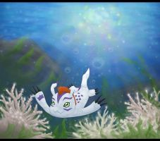 Gomamon: Under The Sea by Brian-Rousette
