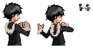 Izaya Backsprite by RivalAppears