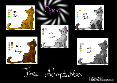 F2U Cat Adoptables by KyaraRichards