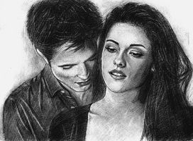 Kristen Stewart, Robert Pattinson by Aes25
