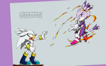 Oo. Sonic channel: Silver and Blaze .oO by PauliCat-24