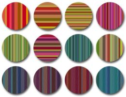 Bourbon Stripes pattern set by melemel