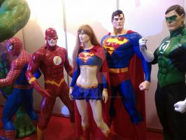 Comic Book hero statues by thereanimatedunknown