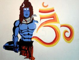 SHIVA wall mural by chauhan03