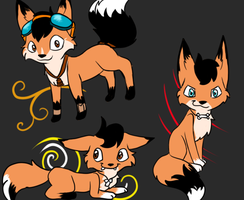 Foxes 1-Klik, Ooga, Nooby by CrazyChrissie101