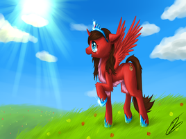 Pony in the plains by StorlazeArt