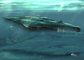 AtoiCamui, United Islands' Submarine by Waffle0708
