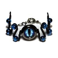 Blue Frost Dragon Eye Bracelet by CatherinetteRings