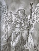 Akroma Angel of wrath by LadyMignon