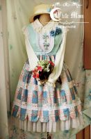 White moon summer coutry style lolita dress by miccostumes
