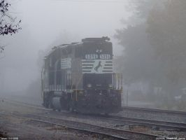 5096 shrouded in Morning fog by Joseph-W-Johns