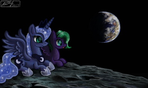 Moon Dasher and Princess Luna by IoannTulynkin