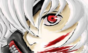 Bloodlust eyes - Kaneki by ShuliChan