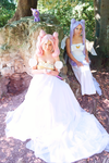 'Chiubiusa and Queen Serenity' Sailor Moon cosplay by CrazyMonkey87