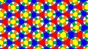 Intersecting RYB Color Wheels Pattern by Ultraviolet-Oasis