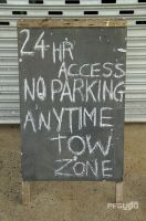 No Parking Anytime Sign by pfgun0
