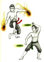 Training 3: Mako and Bolin by charmontez