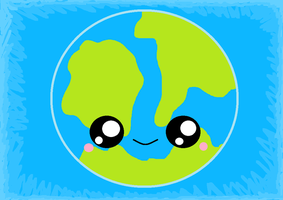 Kawaii Earth by KawaiiBow100