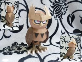 Noctowl papercraft by dodoman75