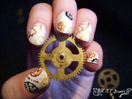 Nail Art Steampunk 03 by Kythana