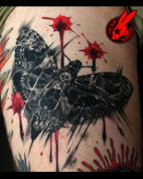 Healed Death Head Moth Skull Tattoo  Jackie Rabbit by jackierabbit12