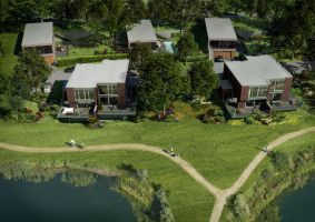 Aerial View of Dutch Homes 2 by myaeonfluxproject