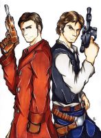 Commission: Captain Mal and Han Solo by Smudgeandfrank