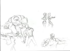 Amazing X-men comic project sketches P3 by Sabrerine911