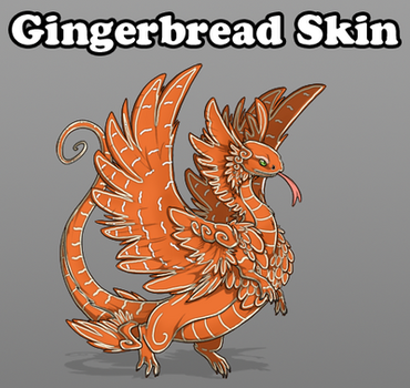 Flight Rising Gingerbread Skin Coatl by Engelchen19